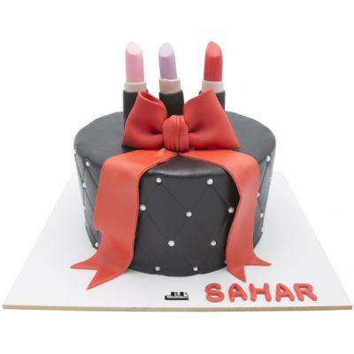 کیک تولد دخترانه  لوازم آرایشی 7