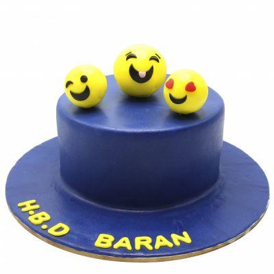 کیک تولد ایموجی های بامزه