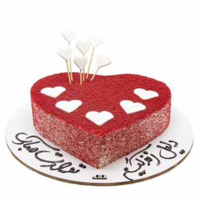 کیک تولد ردولوت قلب