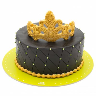 کیک تولد  زرین تاج مشکی
