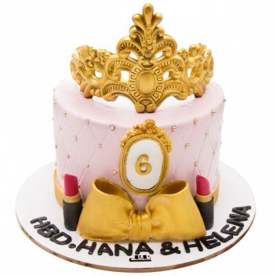 کیک تولد دخترانه ملکه زرتاج