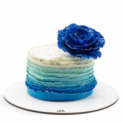 کیک تولد دراپه آبی
