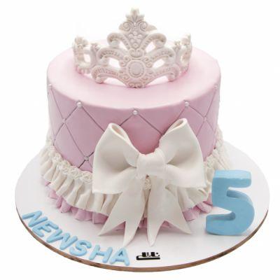 کیک تولد دخترانه تاج سیلور