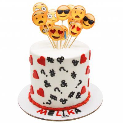 کیک تولد ایموجی ها