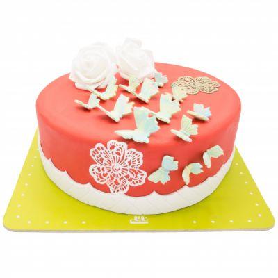 کیک تولد دخترانه پروانه