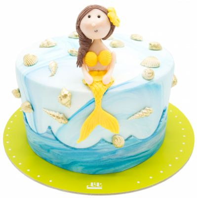 کیک تولد دخترانه پری دریایی