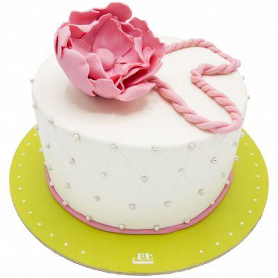 کیک تولد دخترانه نیلوفر آبی گل مرداب