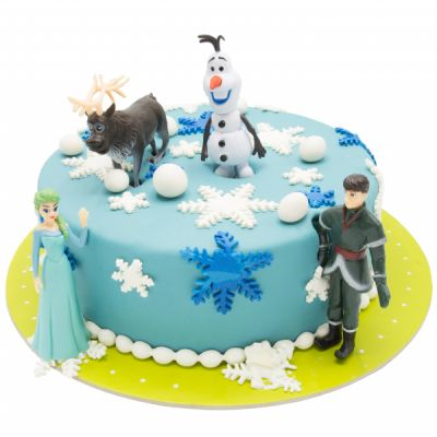 کیک تولد السا و اولاف