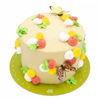 کیک تولد دخترانه باغ گل