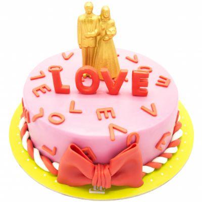 کیک تولد دخترانه لاو