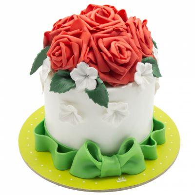 کیک تولد دخترانه رد رز