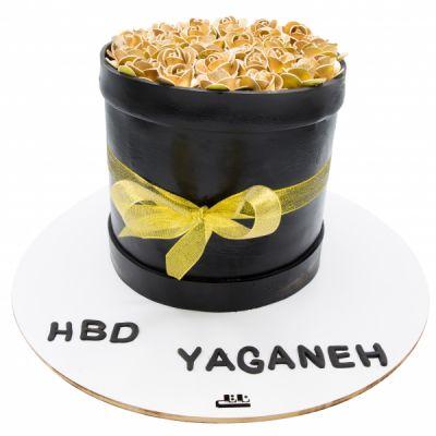 کیک تولد دخترانه رز طلایی 2