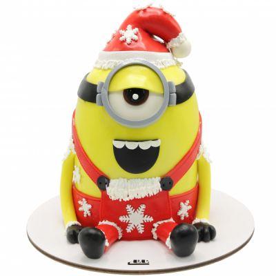 کیک تولد مینیون خوشحال