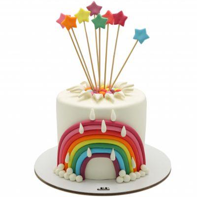کیک تولد دخترانه رنگین کمان 6