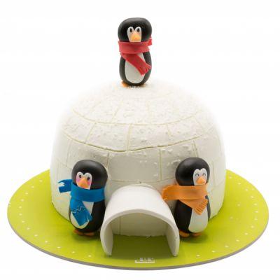 کیک تولد پنگوئن های آقای پاپر
