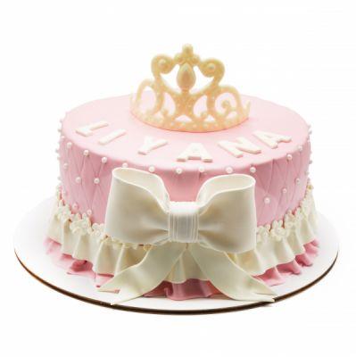 کیک تولد دخترانه تاج پرنسس