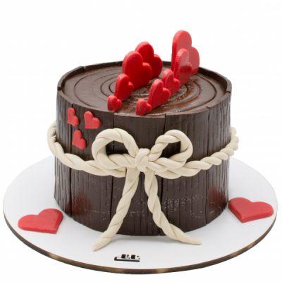 کیک تولد درخت شکلاتی
