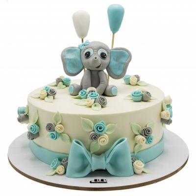 کیک تولد پسرانه فیل بامزه