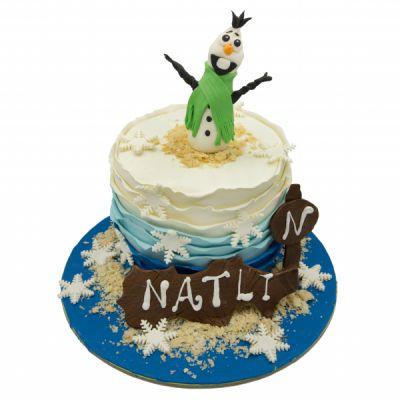 کیک تولد آدم برفی 2