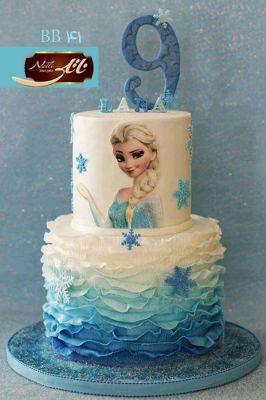 کیک تولد دخترانه السا 3