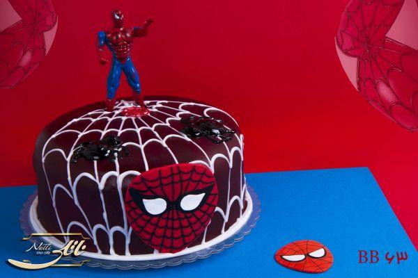 کیک تولد پسرانه مرد عنکبوتی 1