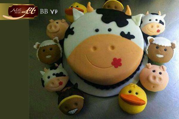 کیک تولد مزرعه حیوانات اهلی