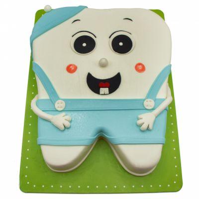 کیک دندونی دندان سالم