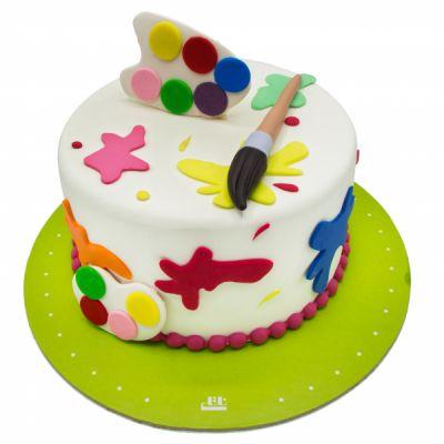 کیک تولد دخترانه آبرنگی