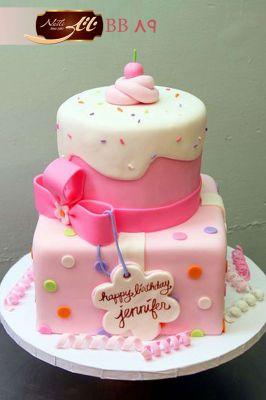 کیک تولد دخترانه پاپیون 3