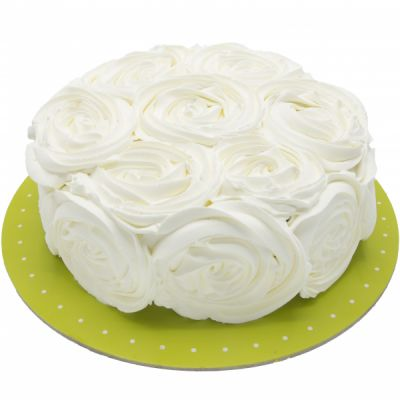 کیک رز سفید وانیلی