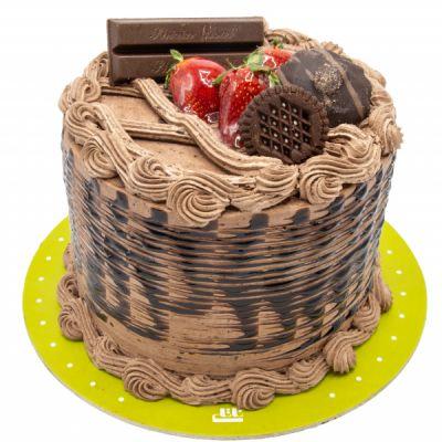 کیک خامه ای کیت کت شکلات