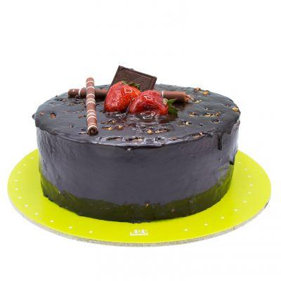 کیک گاناش با کره بادام زمینی