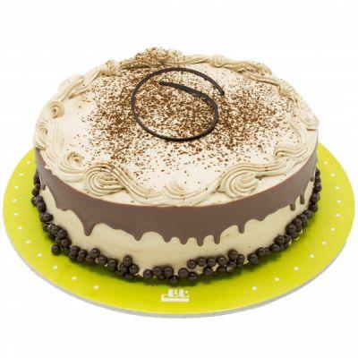 کیک نسکافه شکلات چکه ای