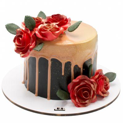 کیک گل های عشق