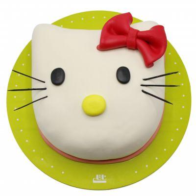 کیک کیتی با فوندانت