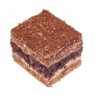 شیرینی شکلاتی مربعی