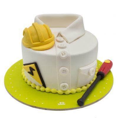 کیک تولد خرس عاشق