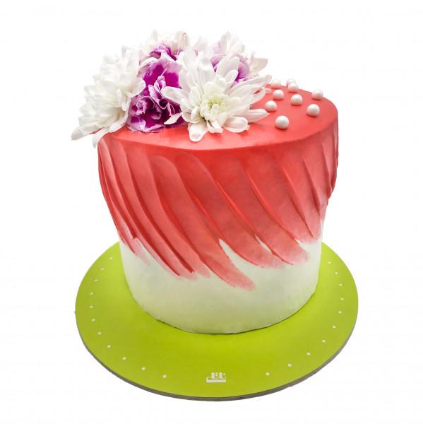کیک تولد دخترانه جنگل صورتی