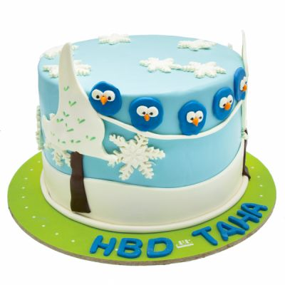 کیک تولد جوجه گنجشک ها