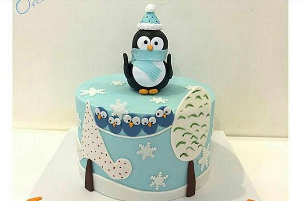 کیک تولد پنگوئن ماداگاسکار