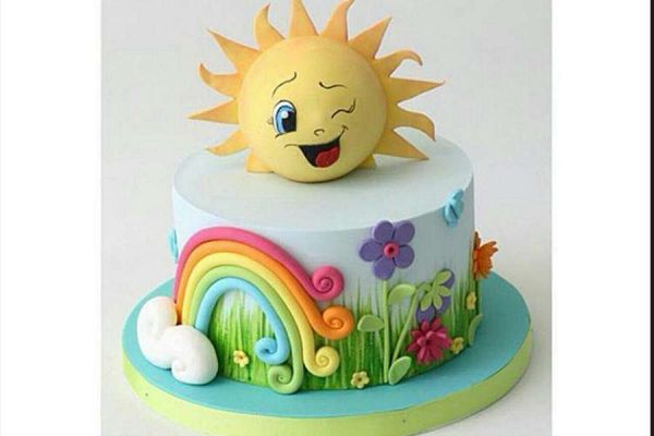 کیک تولد دخترانه خورشید خانم
