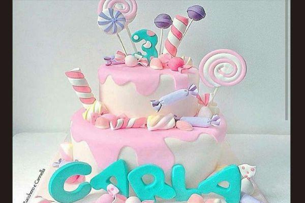 کیک تولد دخترانه قصر شیرینی 2