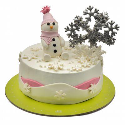 کیک تولد آدم برفی 6