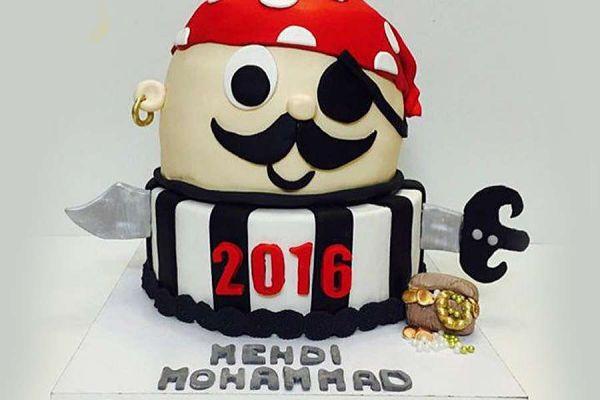 کیک تولد پسرانه دزد دریایی 2