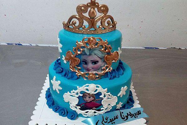 کیک تولد فوندانت TF34