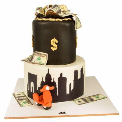 کیک تولد فوندانت TF42