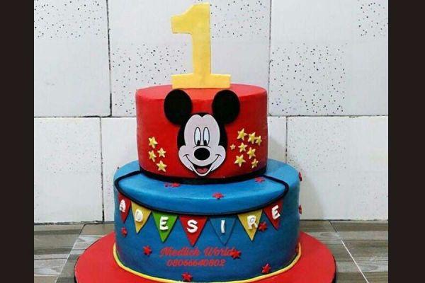 کیک تولد فوندانت TF49
