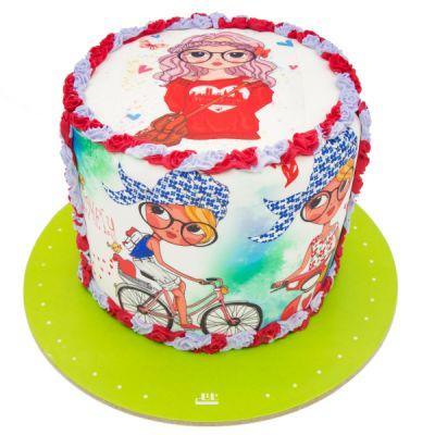 کیک تولد دخترانه السا 7