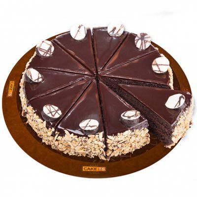 کیک دبل چاکلت کافی شاپی