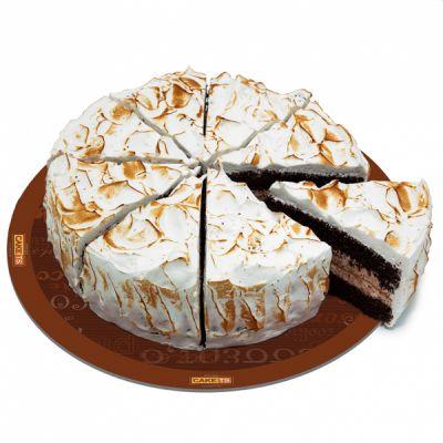 کیک چاکلت مرنگ فندق کافی شاپی
